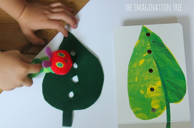 The very hungry caterpillar storytelling props basket