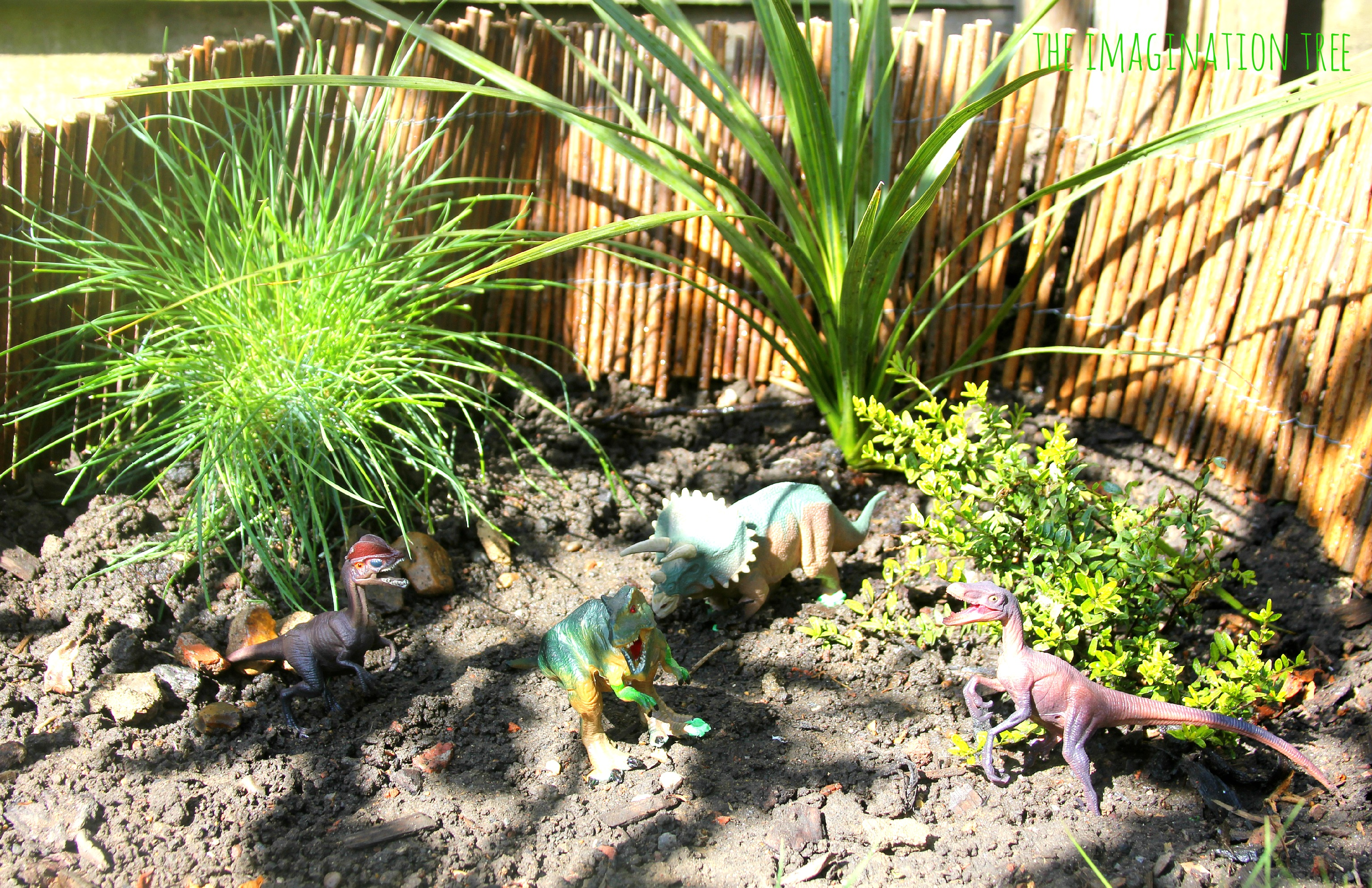 Small world play dinosaur garden the imagination tree for The landscape gardener
