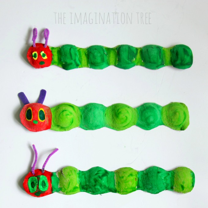 Fruit box hungry caterpillar craft- square