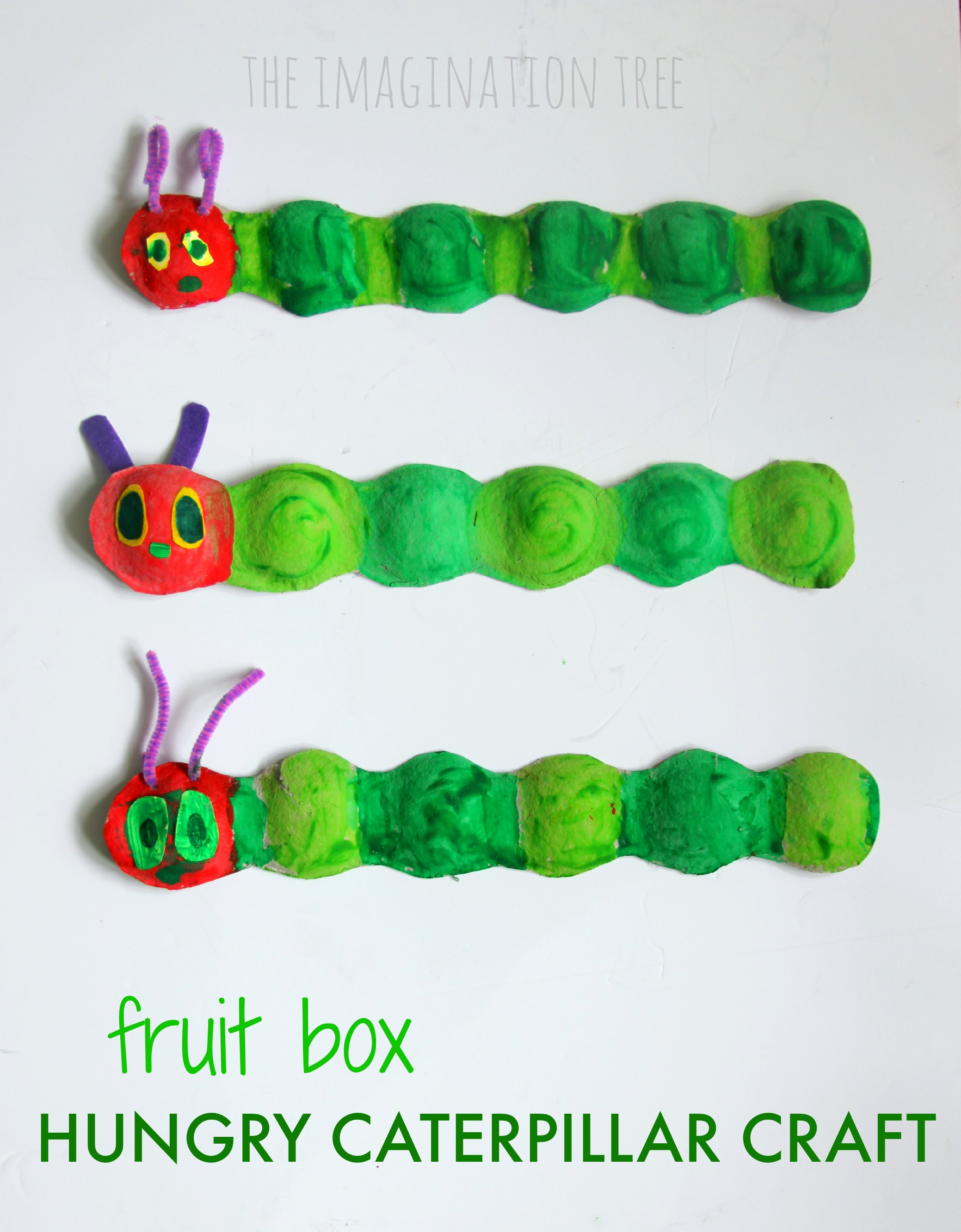 Fruit box hungry caterpillar craft the imagination tree for Caterpillar crafts for preschoolers