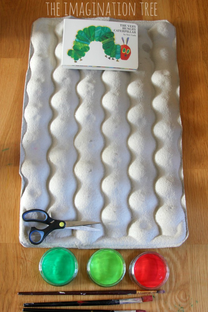 Hungry caterpillar craft activity for kids