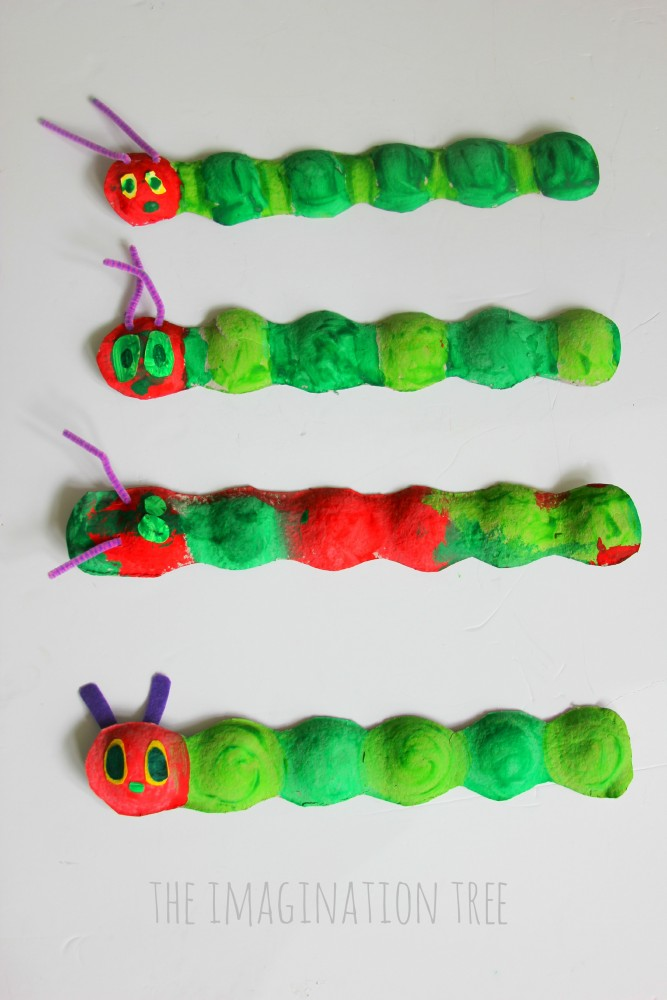 The Very Hungry Caterpillar craft for kids