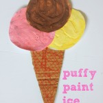 Puffy Paint Ice Cream Craft