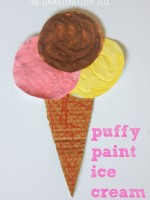 Puffy paint ice cream art activity