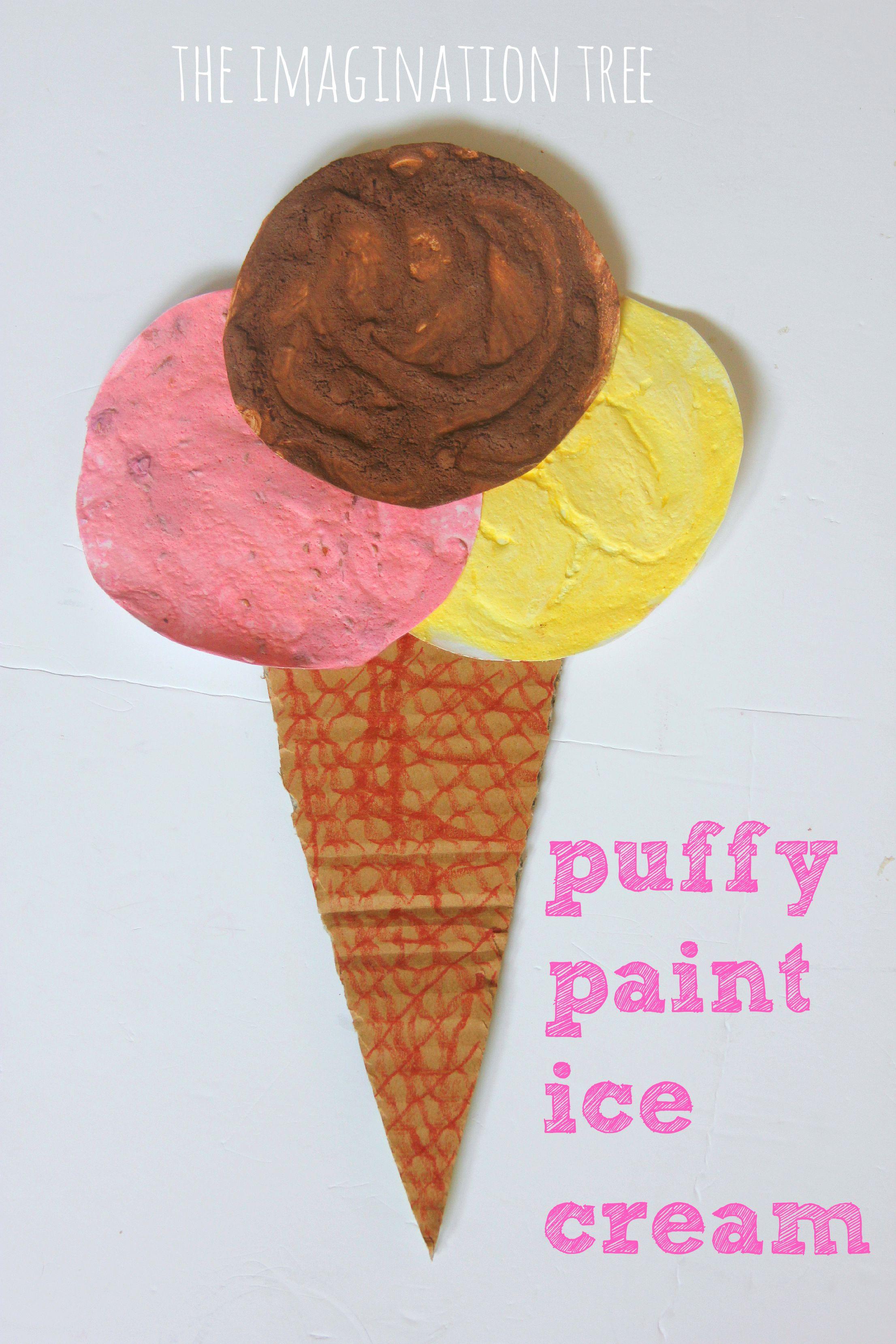 Puffy Paint Ice Cream Craft