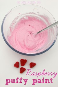 Raspberry puffy paint recipe