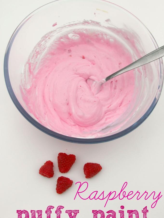 Raspberry puffy paint recipe