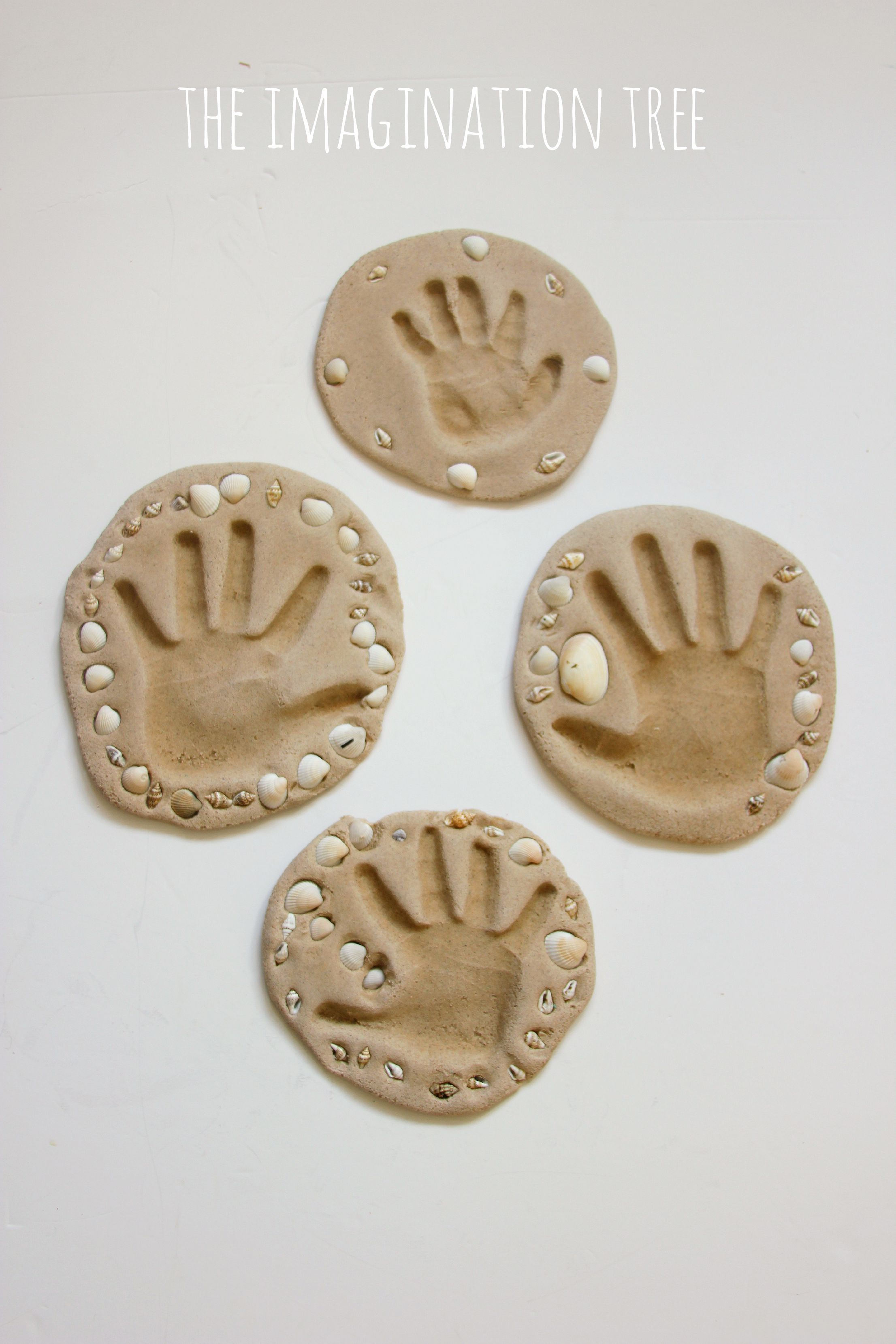 Sand clay recipe and handprint keepsakes the imagination for Crafts with hands