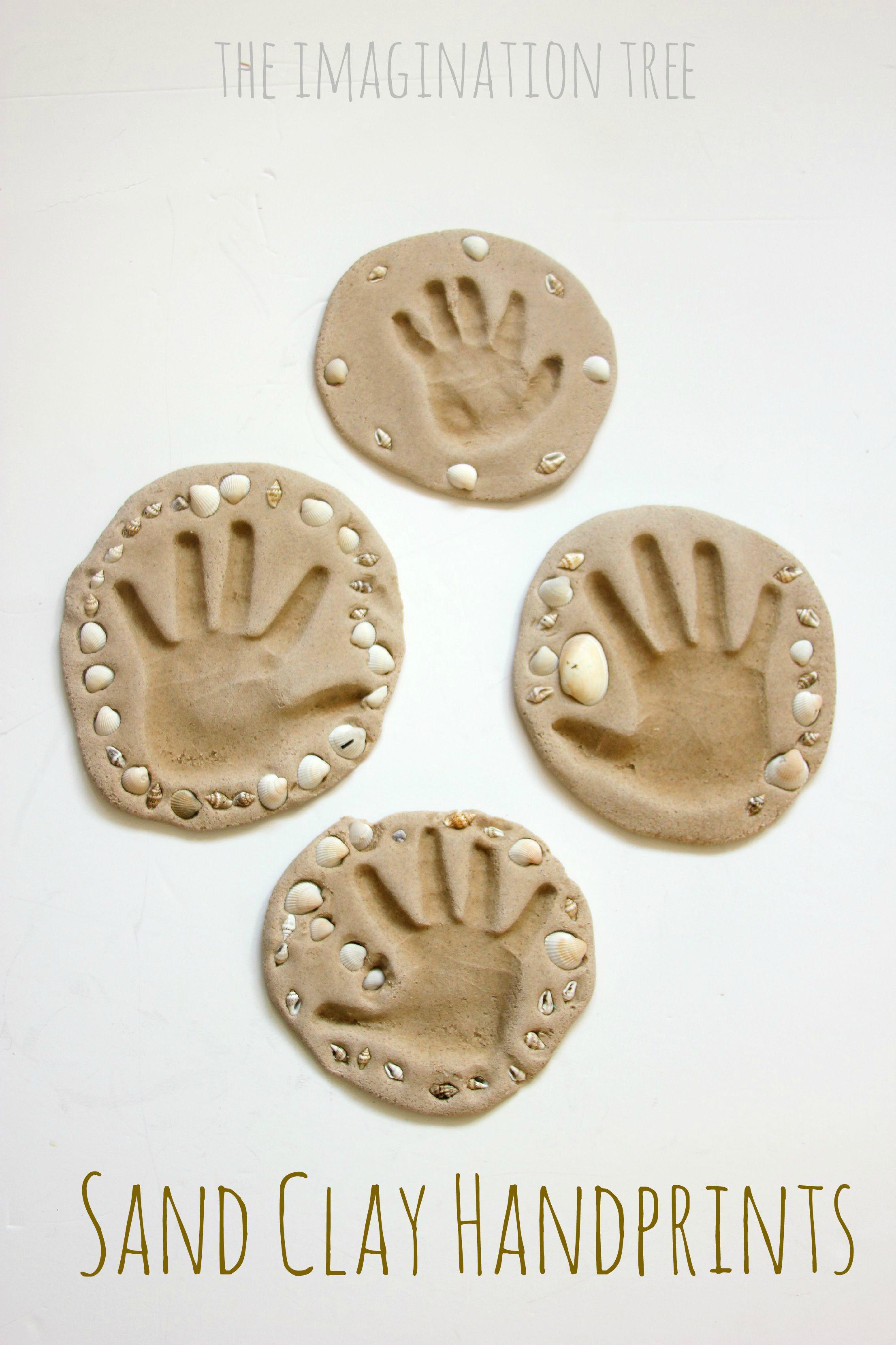 Homemade Clay Handprint Craft
