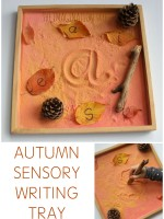 AUTUMN SENSORY WRITING TRAY ACTIVITY