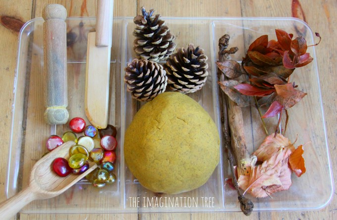 Autumn spice play dough natural invitation to play
