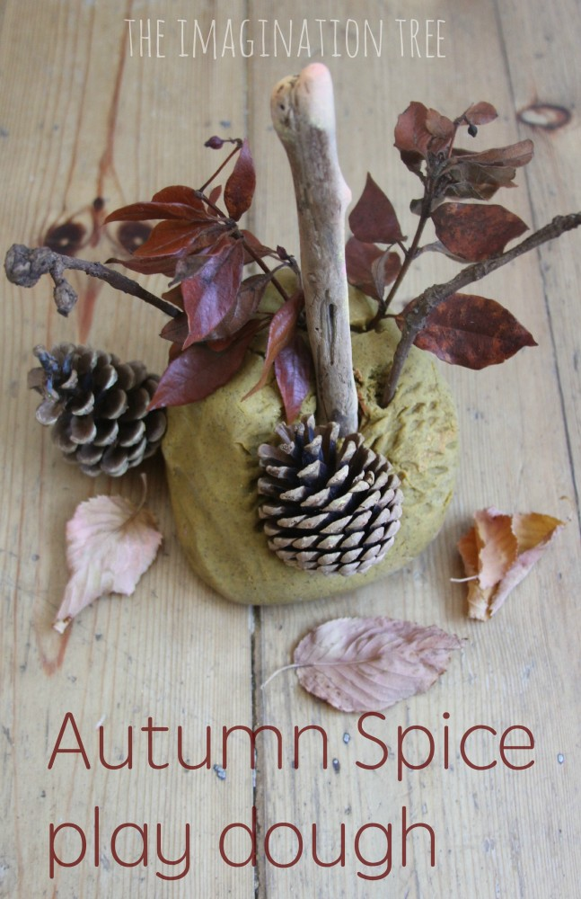 Autumn spice play dough recipe and play ideas