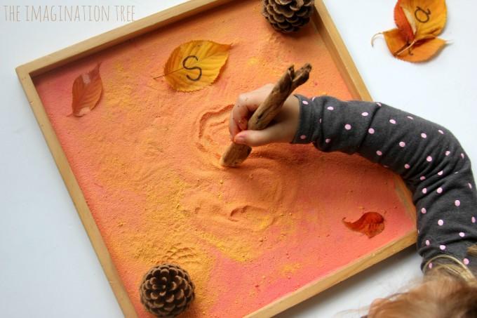 Fall writing tray