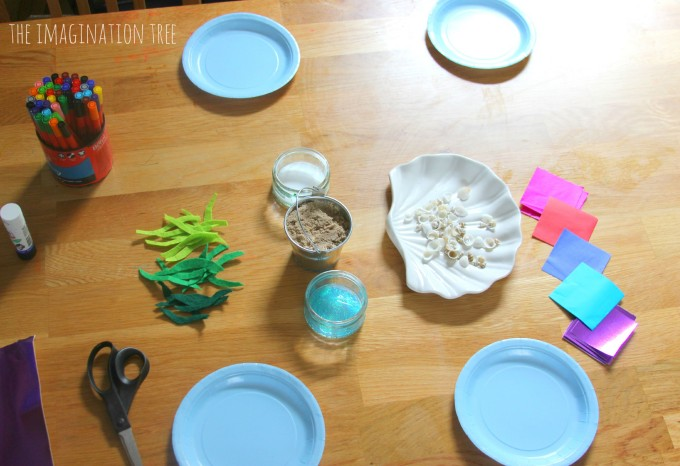 Paper plate sea craft materials