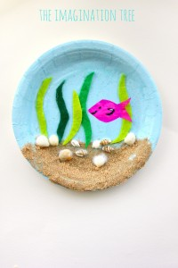 Paper plate under the sea craft