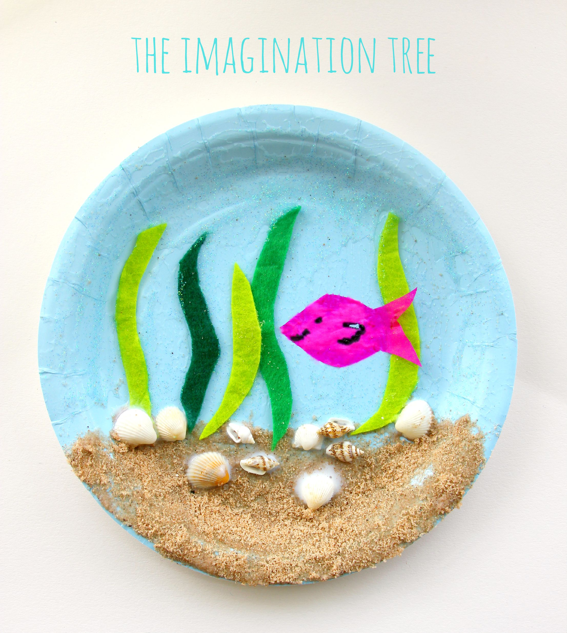 Under the sea paper plate craft & Under the Sea Paper Plate Craft - The Imagination Tree