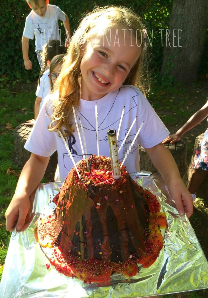 Volcano birthday cake!