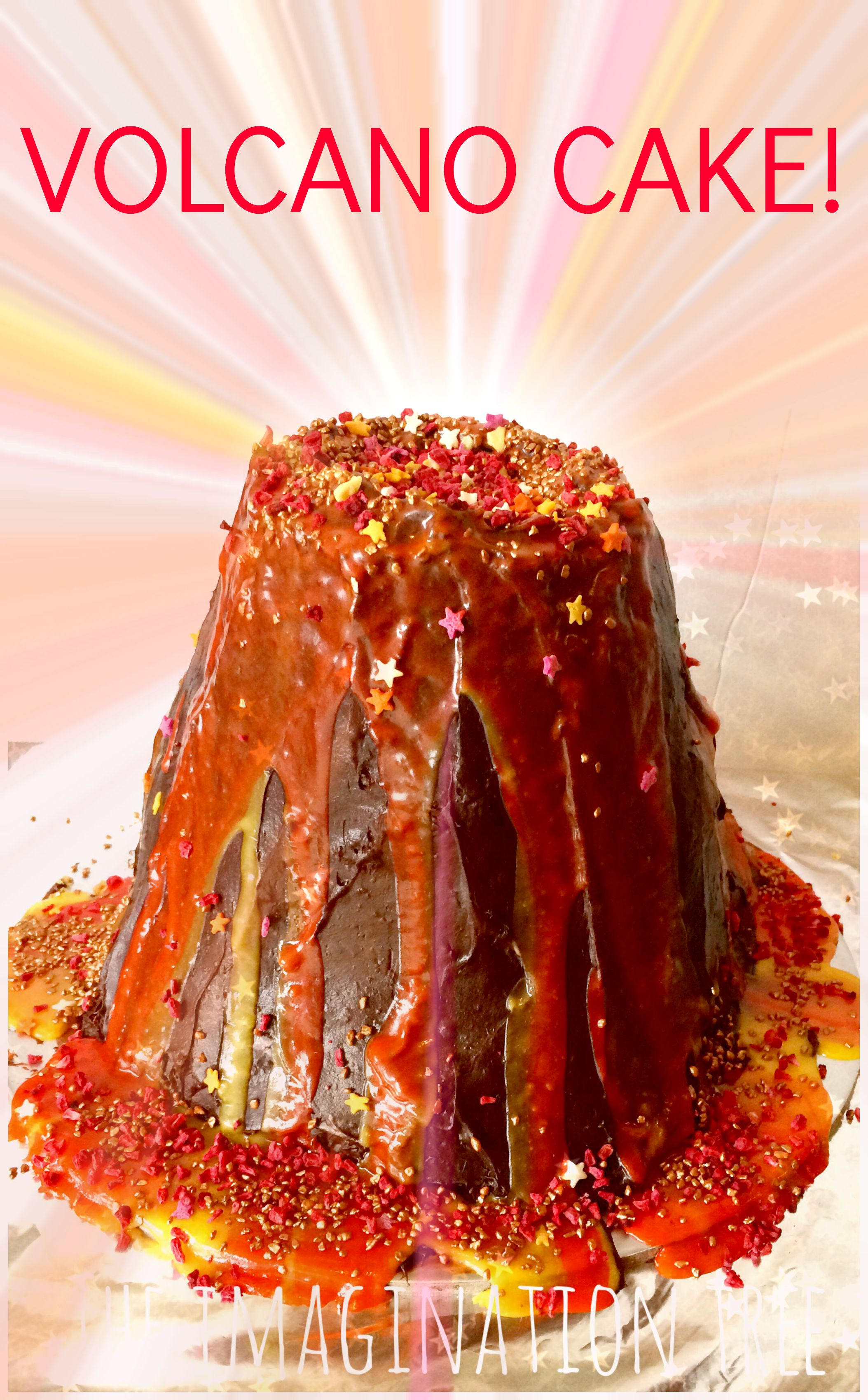 How To Make A Volcano Cake For School