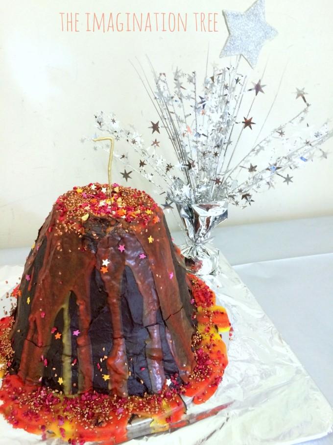 Volcano surprise cake