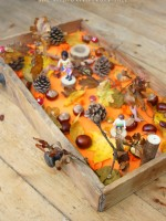 Autumn sensory small world play