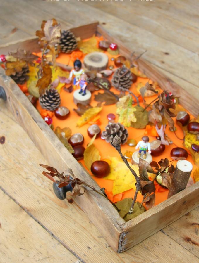 Autumn sensory small world play