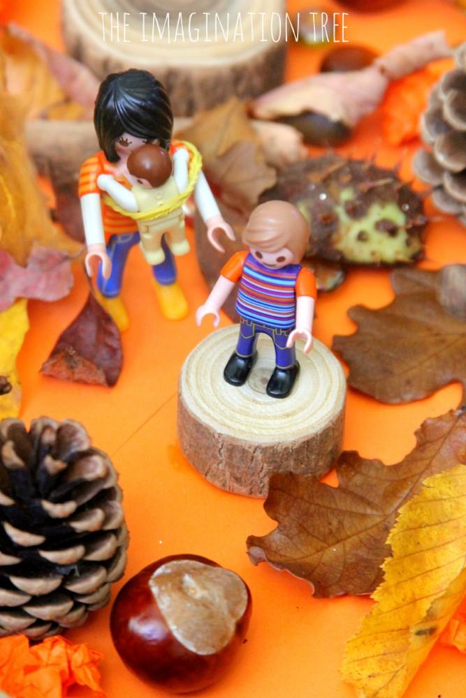 Autumn small world play scene