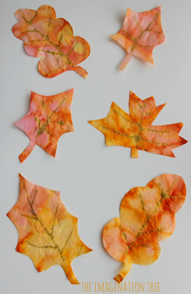 Autumn spice paints recipe the imagination tree - Leaves paintings and drawings ...