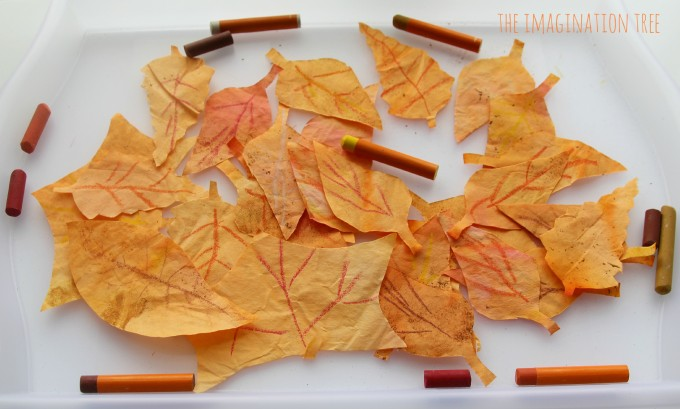 Coffee filter leaf craft