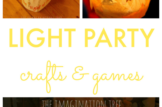 Create a light party for kids- halloween alternative