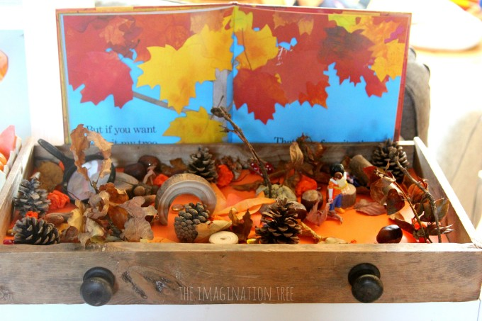 Fall sensory small world play