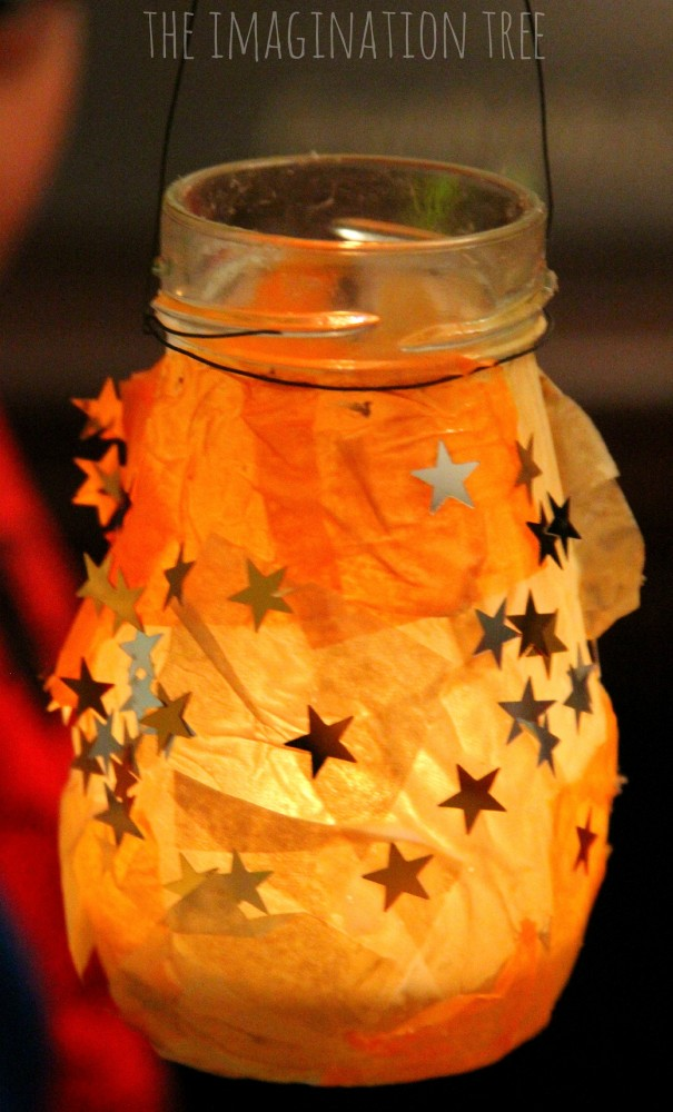 Glass and tissue paper lanterns