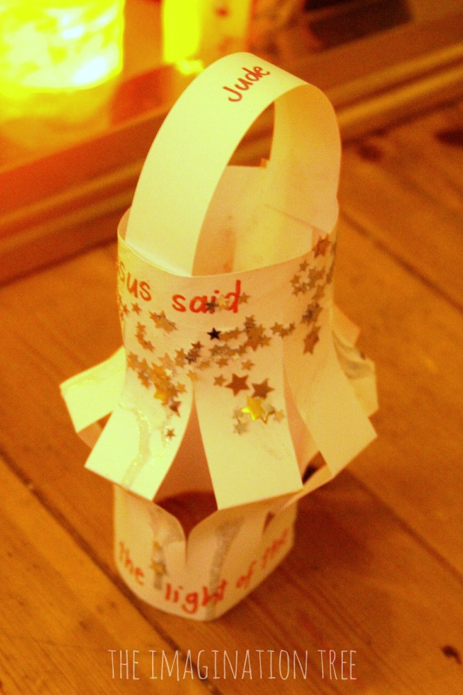 Paper lantern I am the light of the world craft
