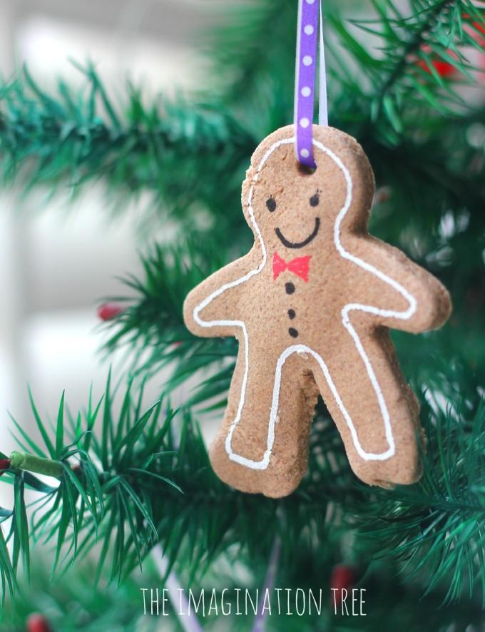 Gingerbread clay ornament recipe