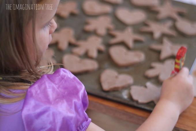 Gingerbread clay ornaments
