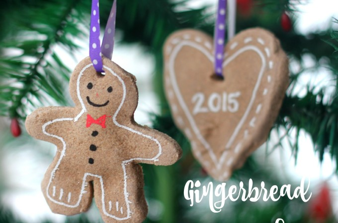 Gingerbread clay recipe for making Chrismas tree ornaments