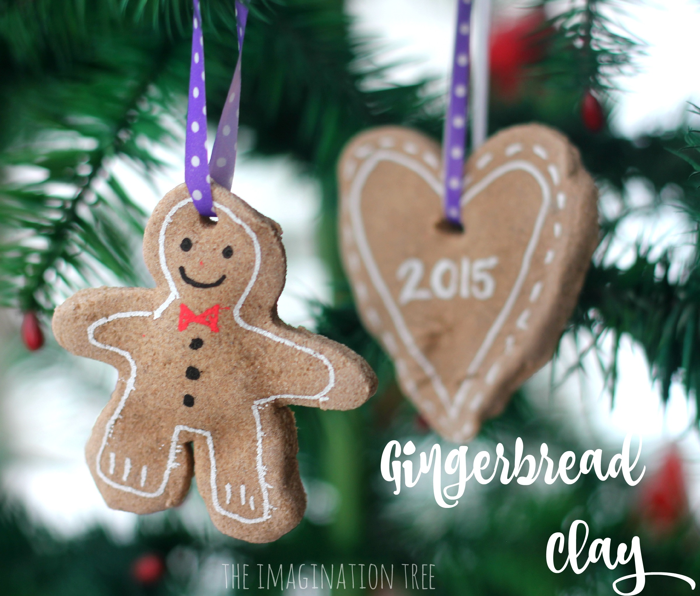 Gingerbread man ornament craft - Gingerbread Clay Recipe For Making Chrismas Tree Ornaments