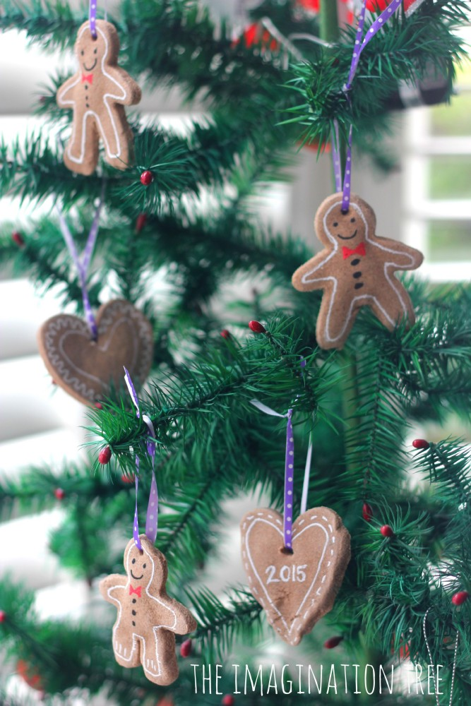 Gingerbread clay tree ornaments
