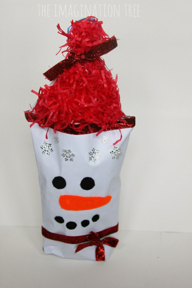Creative gifts for kids! Wrap a gift to look like a snowman!