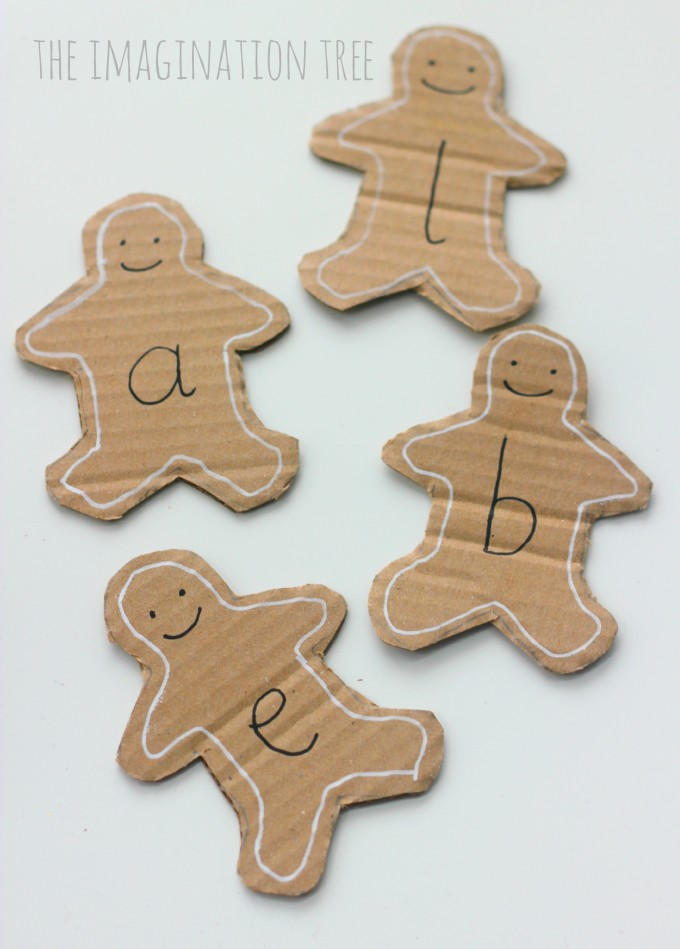 Gingerbread Man Alphabet Cards