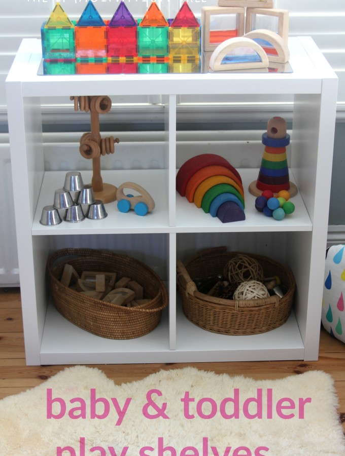 Baby and toddler play shelves storage and toy ideas
