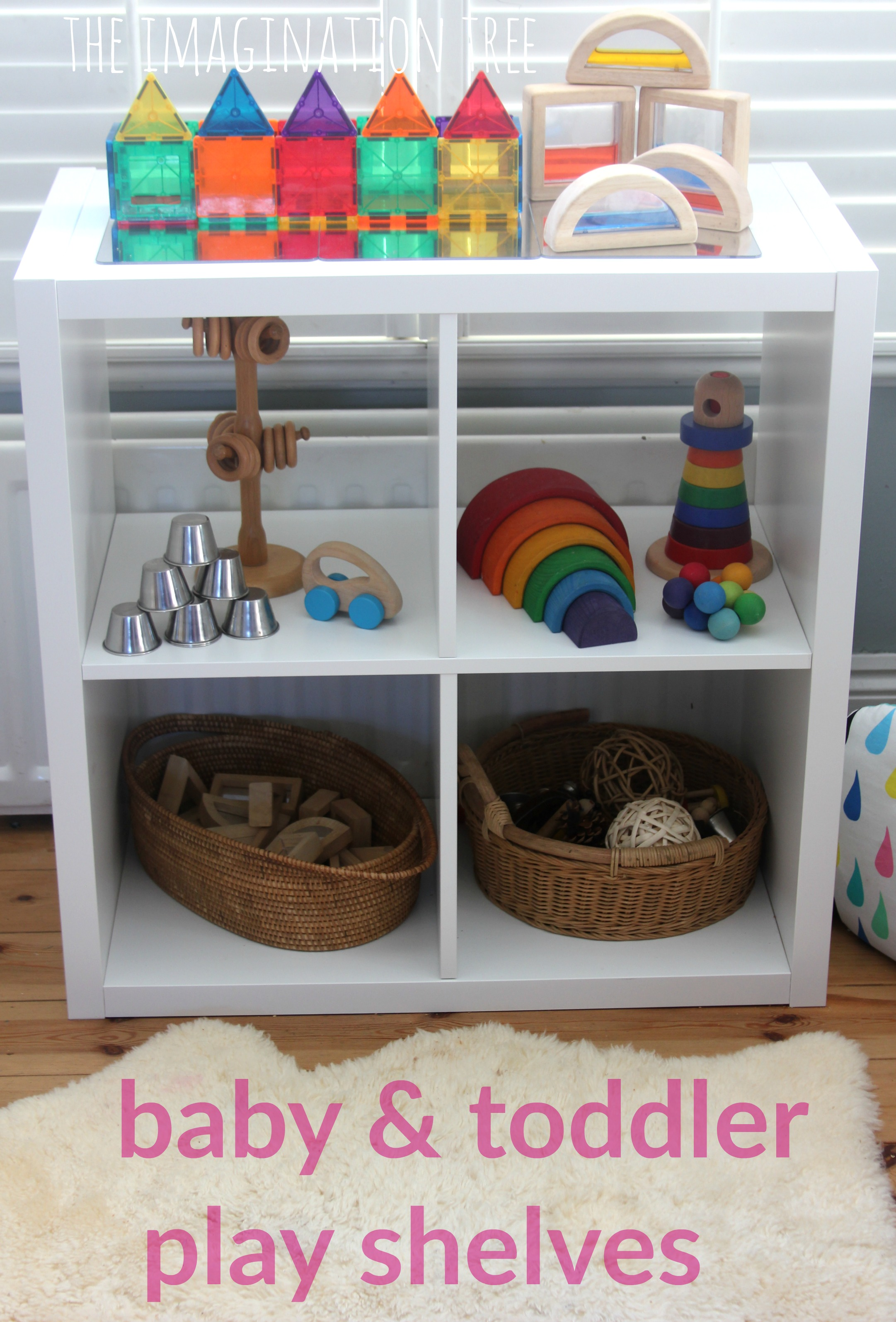 baby and toddler play shelves - the imagination tree