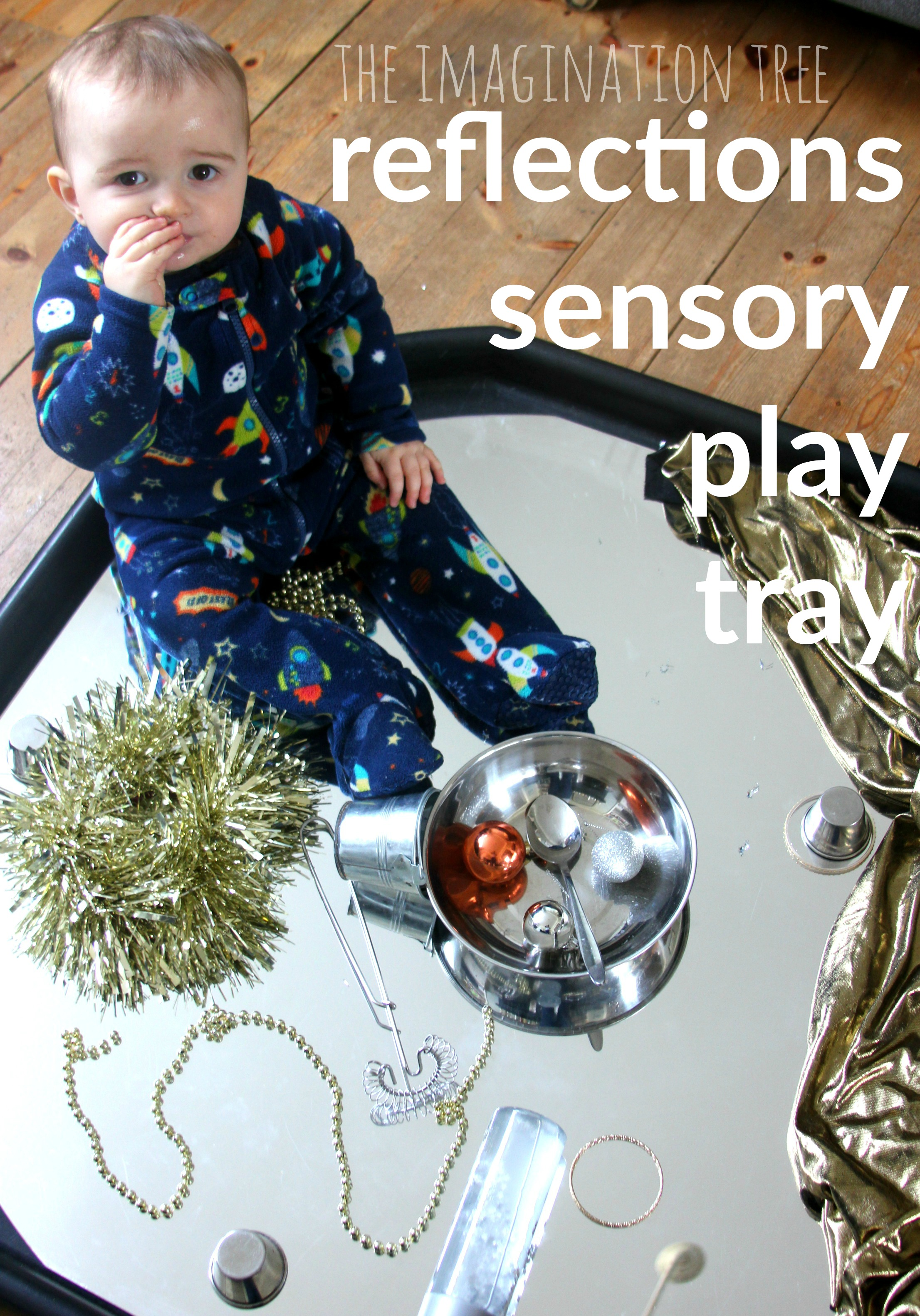 Colour activities babies - Baby And Toddler Sensory Play Tray Reflections