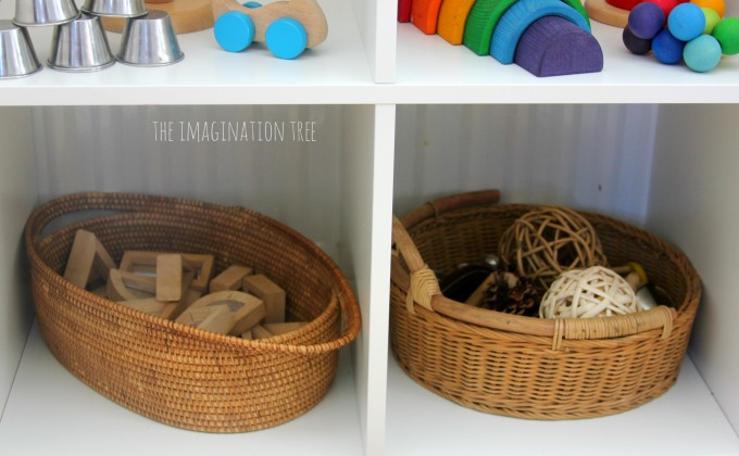 Toddler and baby play baskets