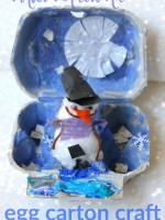 Winter wonderland egg carton craft for kids
