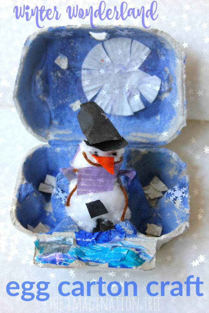 Winter Wonderland Egg Carton Craft
