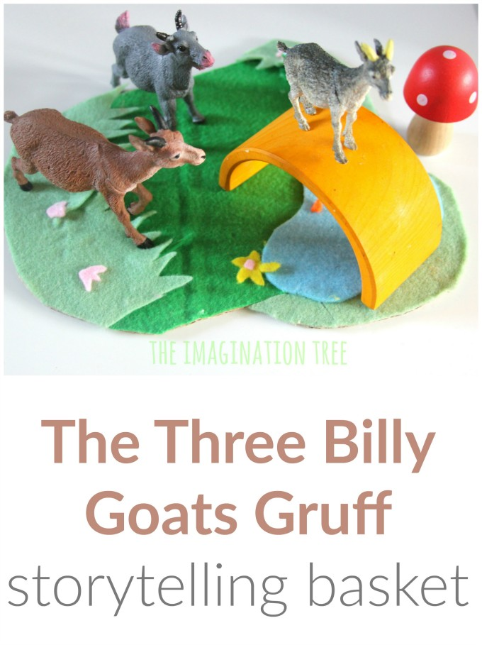 Storytelling baskets for preschoolers The Three Billy Goats Gruff