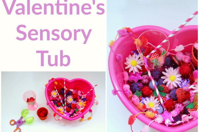 Valentine's sensory tub for toddlers!