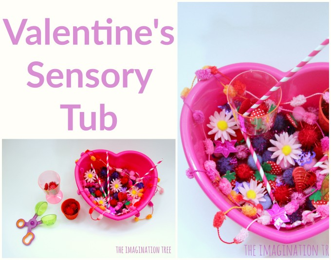 Valentine's Sensory Tub for Toddlers