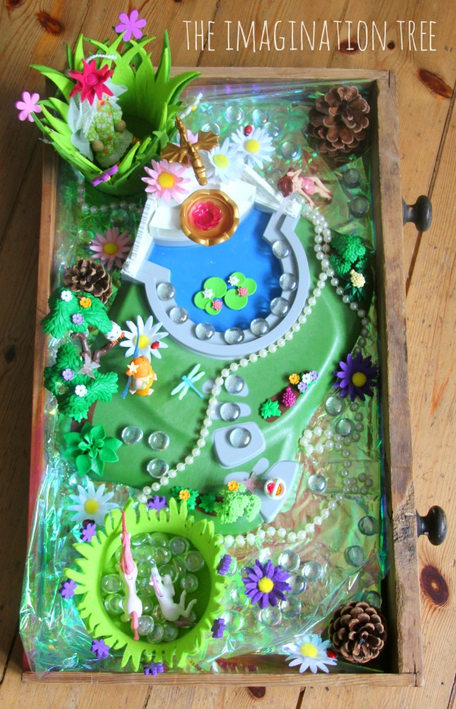 Fairy garden imaginative play scene