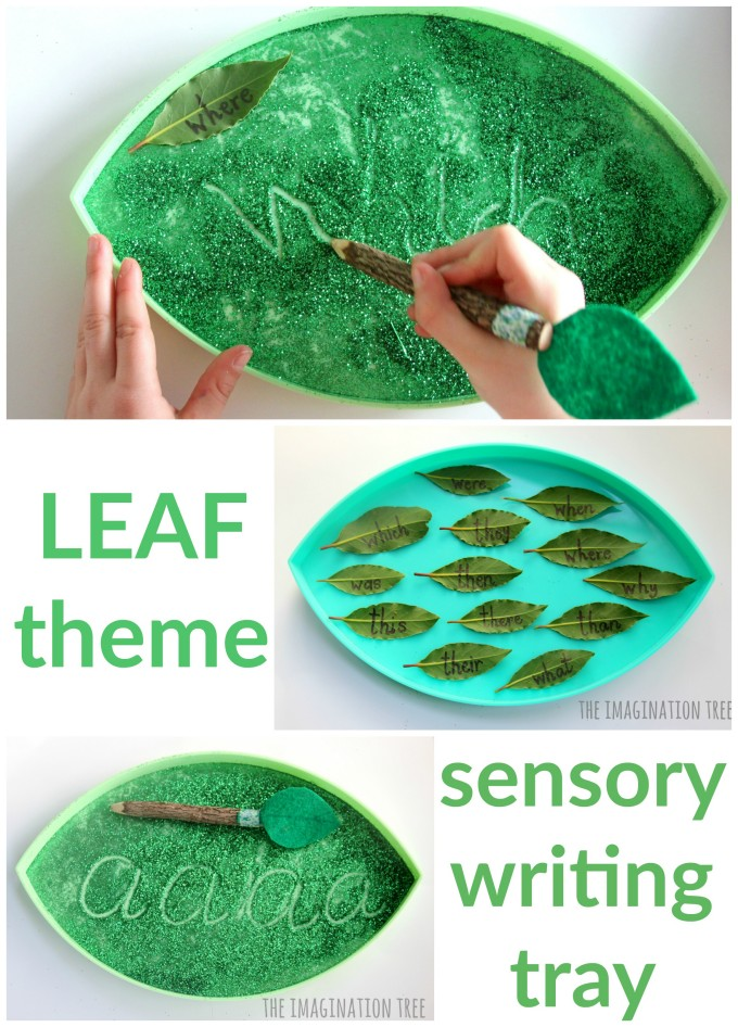 Leaf Sensory Writing Tray